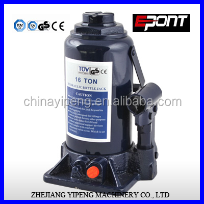 factory offering 16T Hydraulic Bottle Jack GS CE/lifting tools/ lifting vehicle and equipment