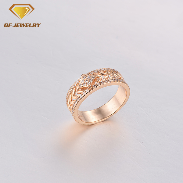 CR1707506 factory direct sale copper jewelry twisted brass ring
