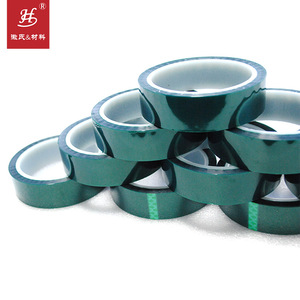 ISO9001&14001 Certified 200 Celsius High Temperature Masking PET Green Flash Tape