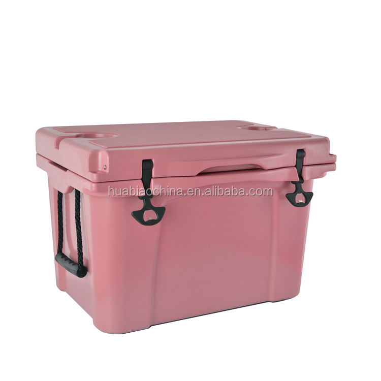 Hot sale large plastic ice cooler box picnic table chest metal ice chest with wheels