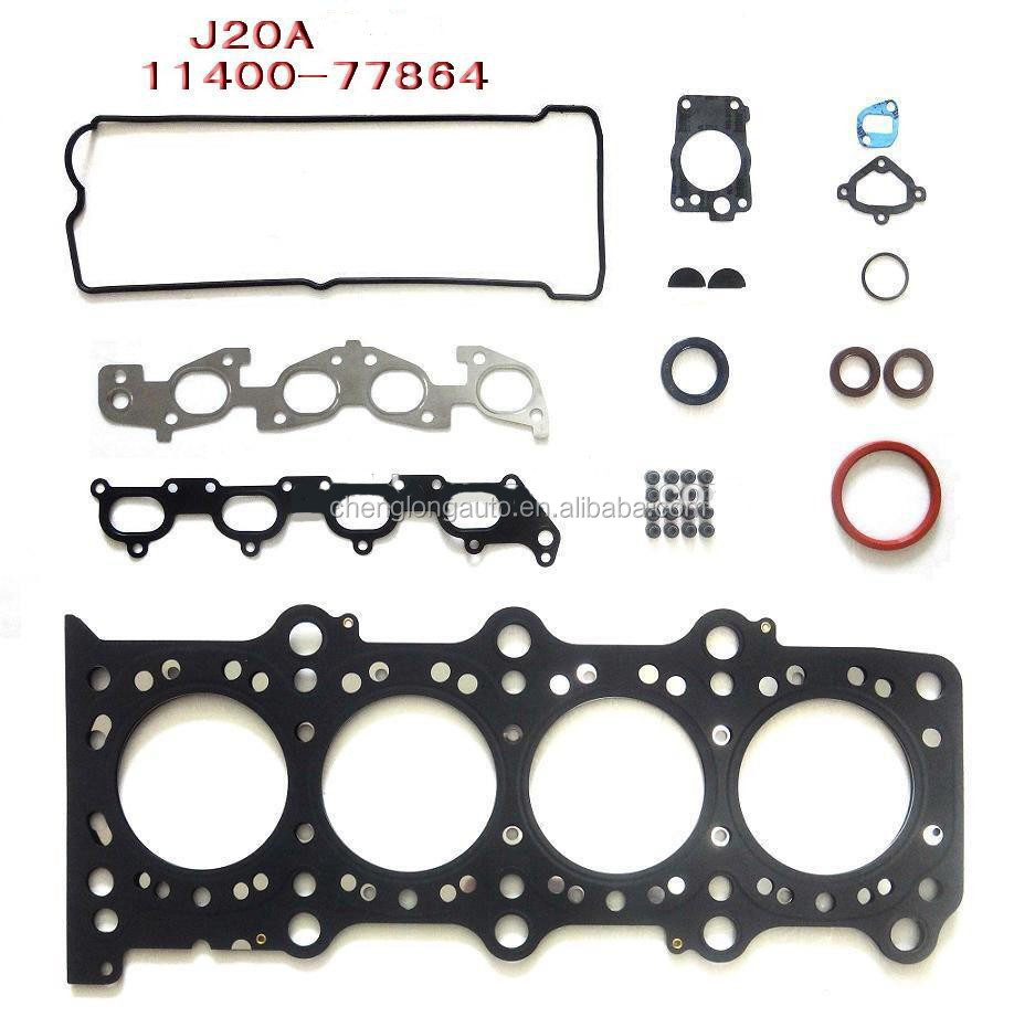 High Quality Full Gasket Set For SUZUKI J20A engine auto parts
