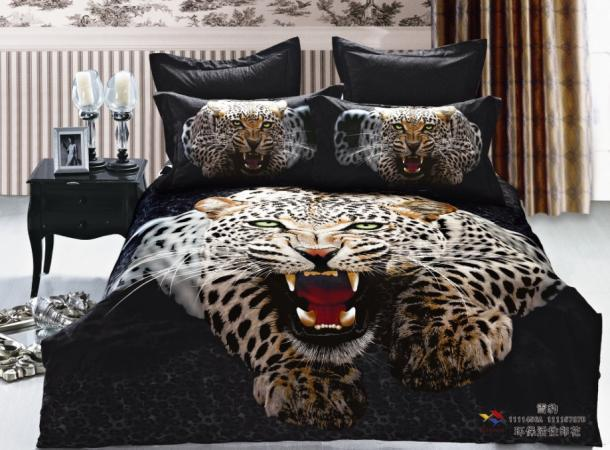 3d Black Leopard Print Bedding Set Queen King Size Duvet