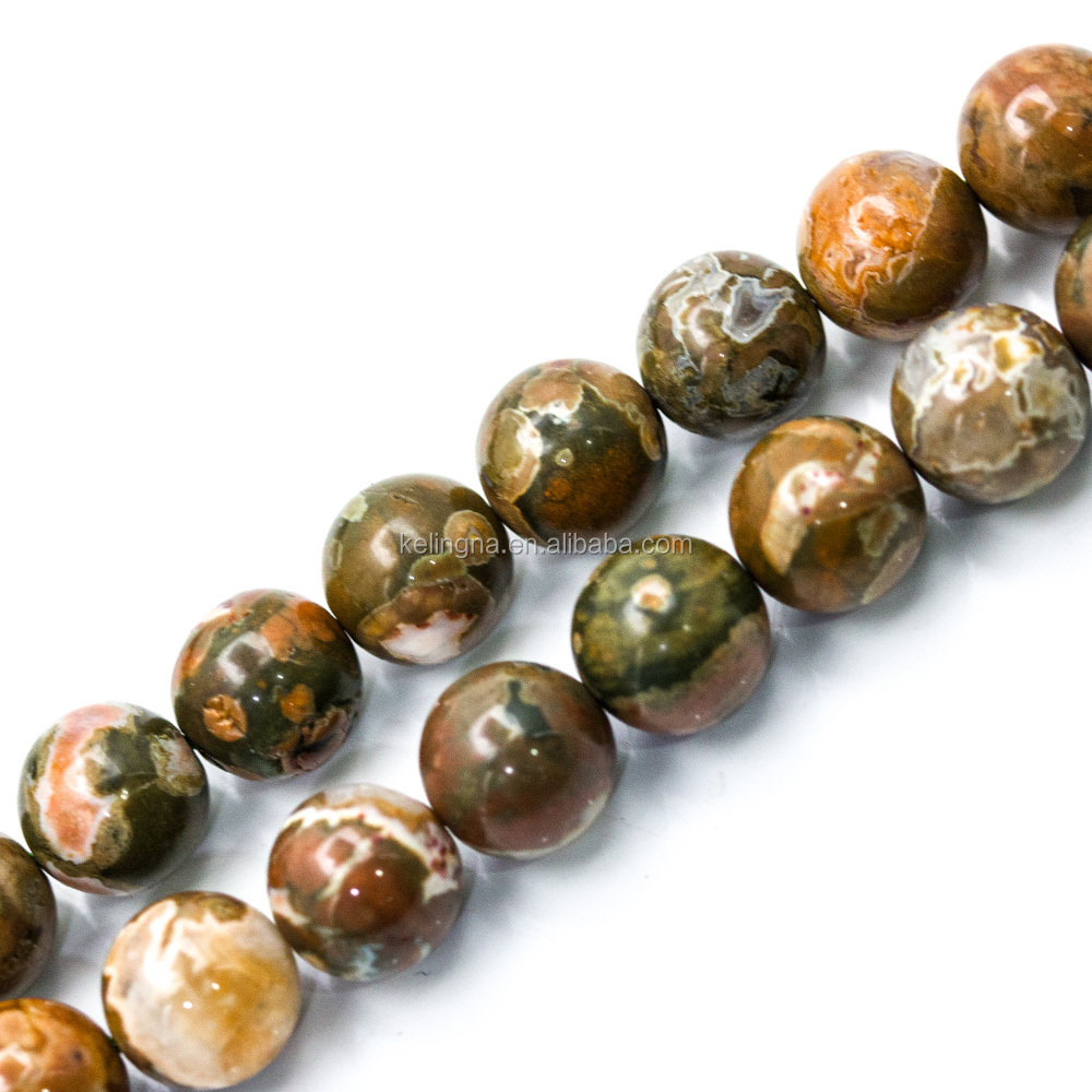 Hot Selling Rhyolite Jasper Smooth Round Gemstone Beads
