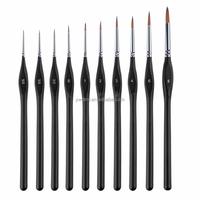 wholesale multi hair material brush /artsit brush /art painting brush set 10 Pieces 1001