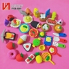 Multiple shapes colorful mini school kid cute rubber 3d eraser