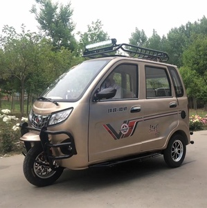 China Yaolon Top Brand Closed Cabin Mini Car Cheap Adult Tricycle For Sale 3 Wheel Taxi Passenger Tricycle Motorcycle