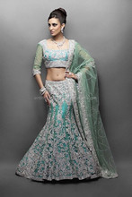 Pastel Green Indian Bridal Lehengas 2017