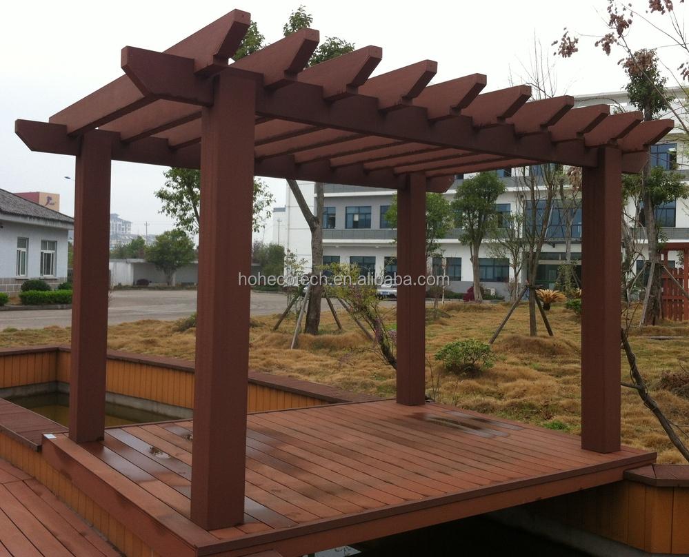 Nice Designed Pergola Composite Posting Wood Plastic