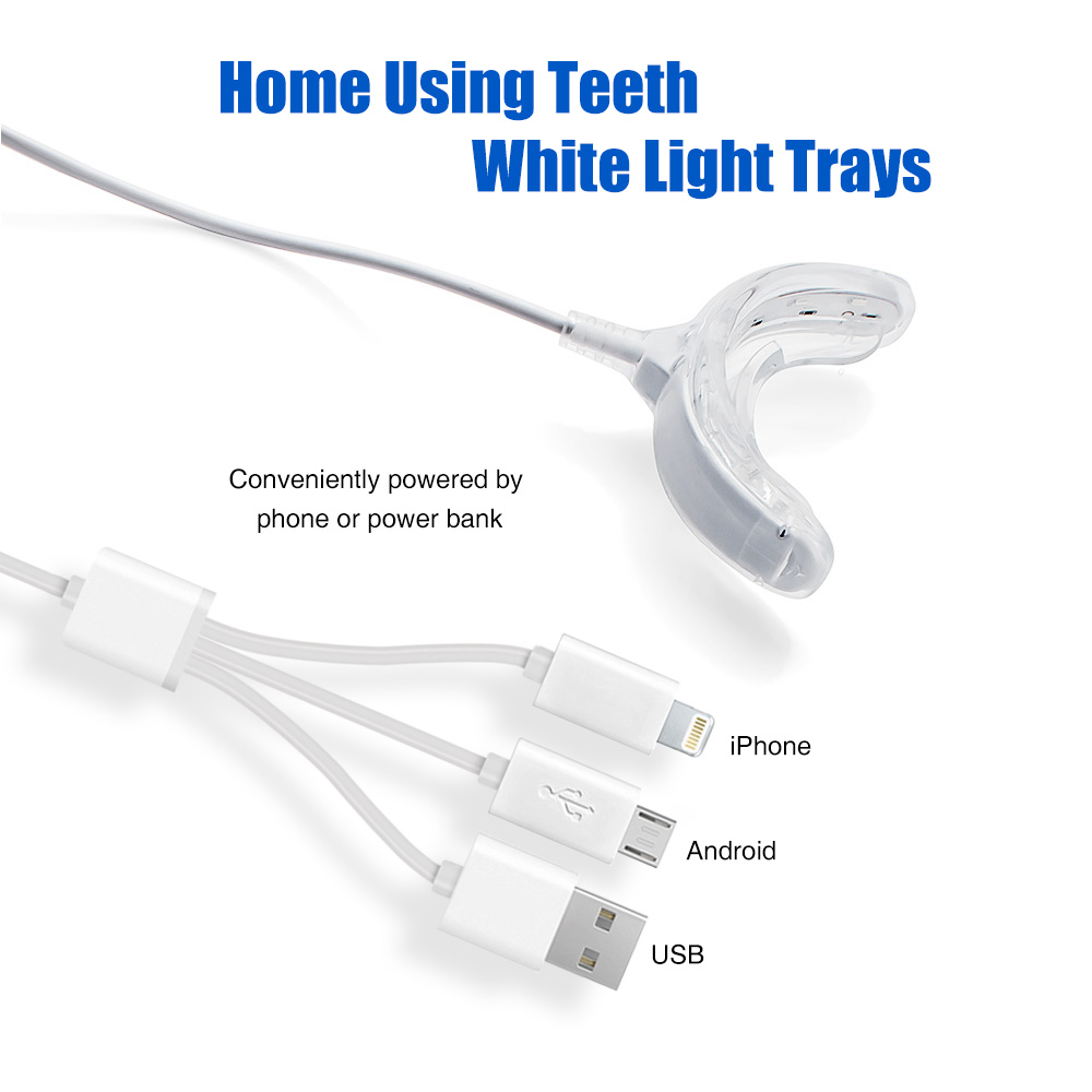 Tongwode Private Label Phone USB Connector LED Lights Gel Pen Teeth Dental Whitening Kit