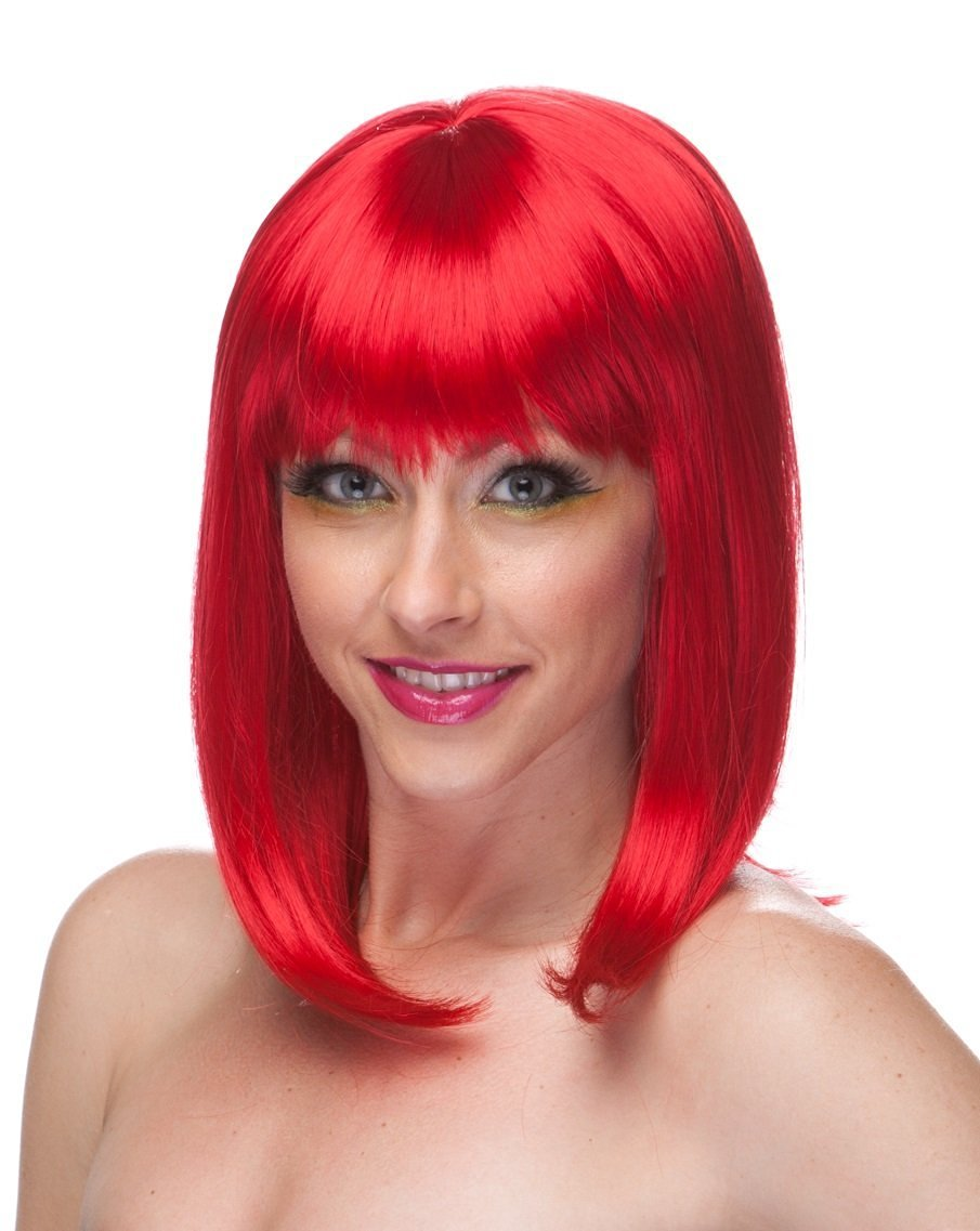 Sexy Red Hair Costume Wig and Short Hair Wigs for Women-Anime Wigs Red and Costume Wigs for Women Will Bring Out the Rihanna Red Wig,Paula Young in All of Us-Red Wigs for Women with Red Wig Bob Look