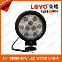 12v automotive 90w led work light, auto parts car accessory with CE ROHS IP67 90w led working light for truck