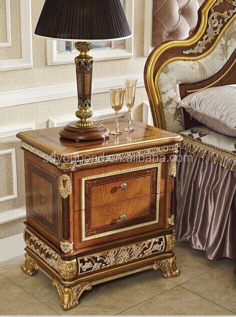 0062 muebles de dormitorio de lujo real, oro cama, elegante juego ...