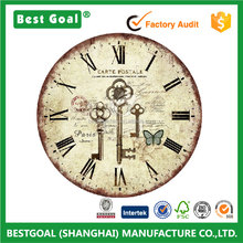 Shabby Chic Home Decoration MDF Design Wooden Wall Clock