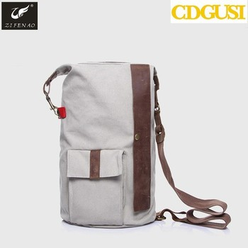 c6c4bc5d3708 New large capacity men drawstring backpack canvas bucket bag unisex  Fashionable concise basketball bags