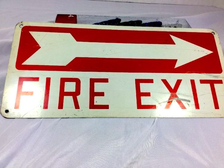 H&D Fire Exit Left Right Arrow Sign Safety Warning Sign Custom Aluminum Name Plate