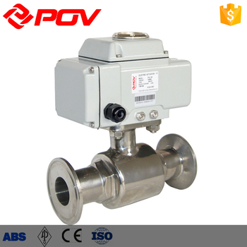 Electric Actuator 220v On Off Type Sanitary Ball Valve