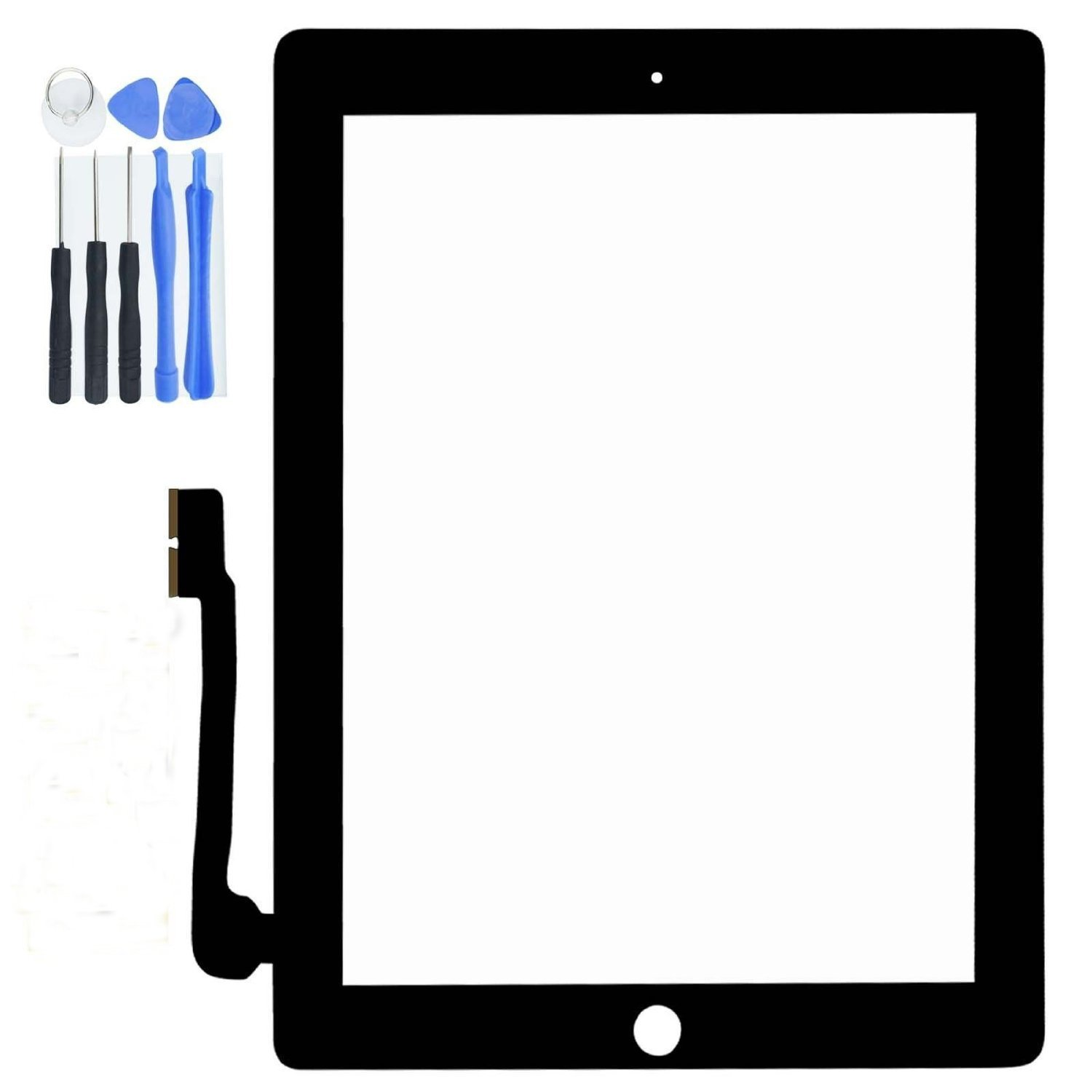 Markham123 Touch screen iPad mini Front Touch Panel Touch Screen Digitizer Includes:1 x Touch Digitizer + Adhesive Tape + 8 in 1 Tool Set (Black/ White) (Black)