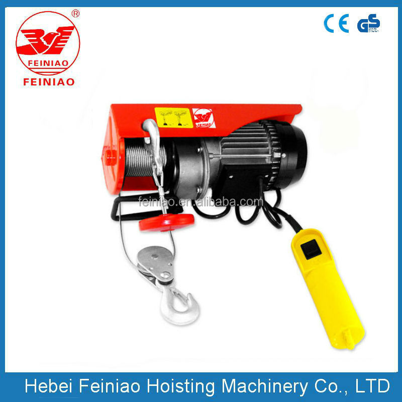 China supplier high quality lifting hoist machine Wire Rope Hoist motor chain hoist with electric or manual trolley