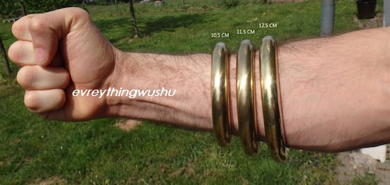Wushu Metal Onderarm Training Ringen Hong Quan Messing Ringen Kung Fu Training Ringen