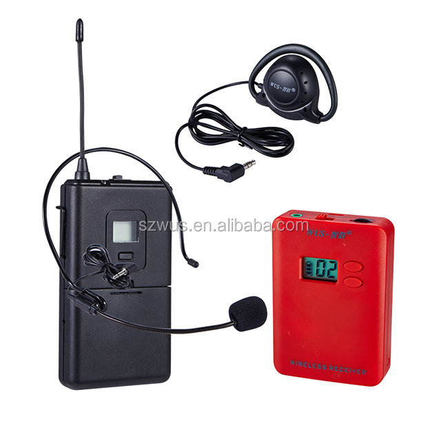 Hot Sale UHF 1000mAH Green CE ROHS Approval Microphones Wireless uhf Transmiter/Simultaneous Interpretation Equipment
