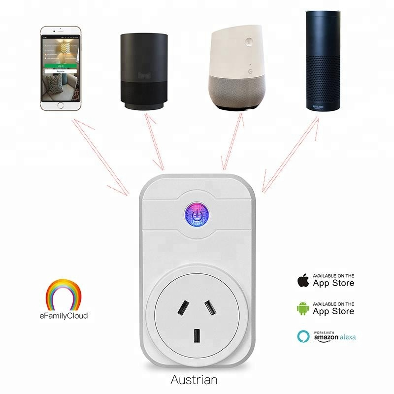 Australia standard Alexa ios/andriod Remote Control wifi Smart <strong>Plug</strong> for General Purpose