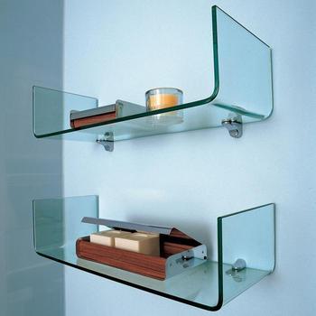 Alta Calidad 5 ~ 10mm Cristal Moderno Estanterías Baño Ducha Cortado ...