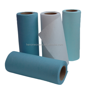 55% woodpulp 45% polyester lint-free wiping cloth for industrial cleaning