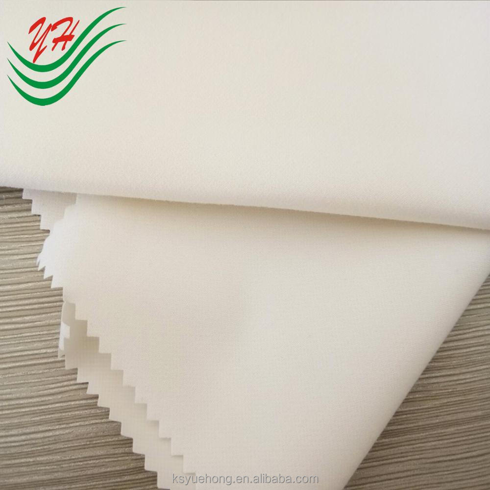 100% Polyester waterproof breathable sanding peach skin fabric laminated with TPU
