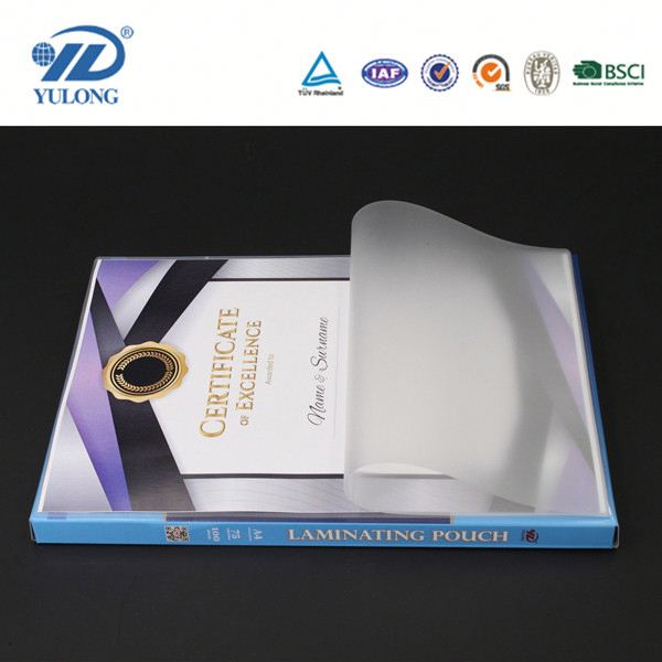 A4 paper laminating plastic sheet PET/EVA in 60mic-250mic