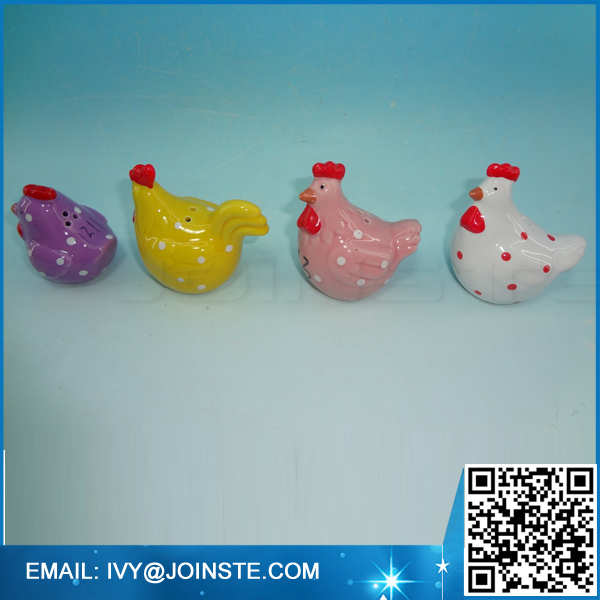 Mini size easter chickes salt and pepper shakers ceramic