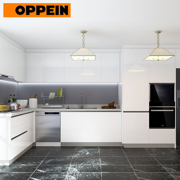 Oppein Modern Design Laminate White Color High Gloss Kitchen Cabinet Colors Buy White Cabinet Kitchen Cabinet Colors High Gloss Cabinets Product On