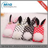 Rabbit Polka Dot style soft silicone phone case for iphone plus, Cell phone cover for iphone 6 plus case with Plush tail