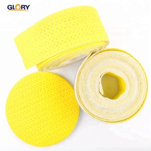 Abrasive multi holes drywall hook & loop yellow sanding disc rolls