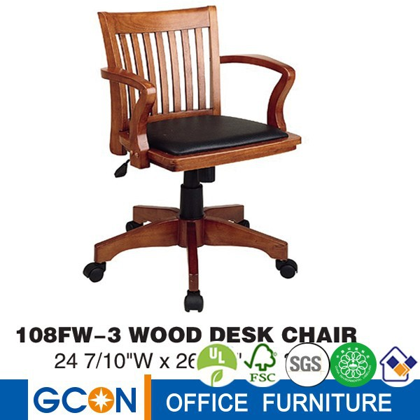 Wholesale high end European style solid wood desk chairs