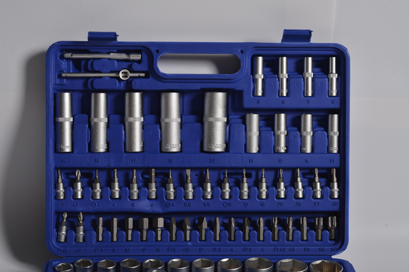 China Factory 108pcs Professional socket Tool  Ratchet Handle Socket Wrench Set