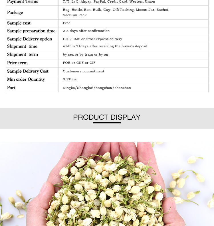 Wholesale Herb Blooming Tea Jasmine
