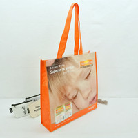 High quality glossy laminated image printed promotional cute pp woven bag