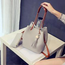 sh10122a 2017 women bag lady fashion handbag 2 pieces set bags women