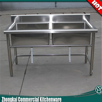Exceptionnel High Quality Ss304 Stainless Steel Fish Cleaning Table With Sink/Commercial  Kitchen Sink Table