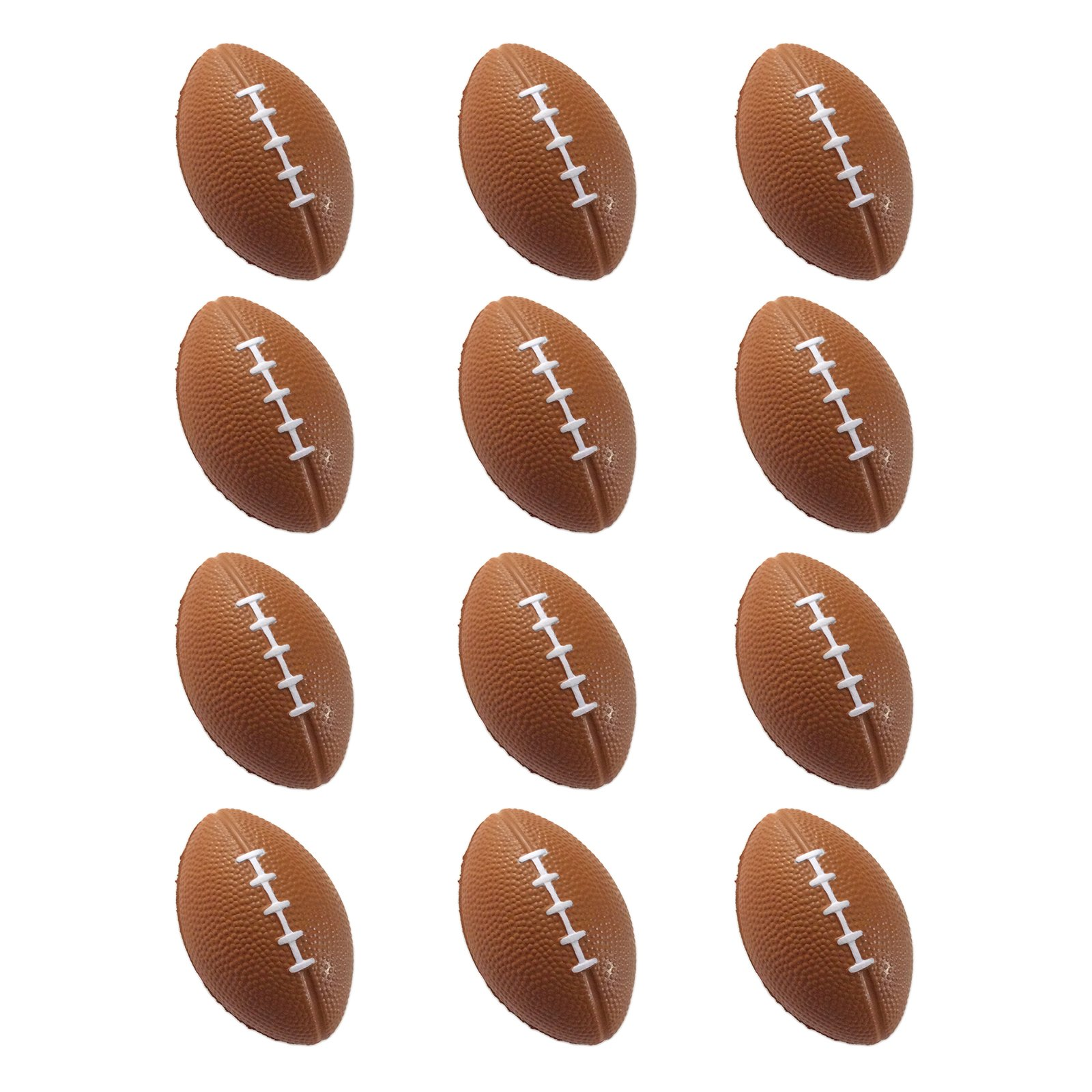 Mini Sports Balls for Kids Party Favor Toy, Soccer Ball, Basketball, Football, Baseball (12 Pack) Squeeze Foam for Stress, Anxiety Relief, Relaxation.