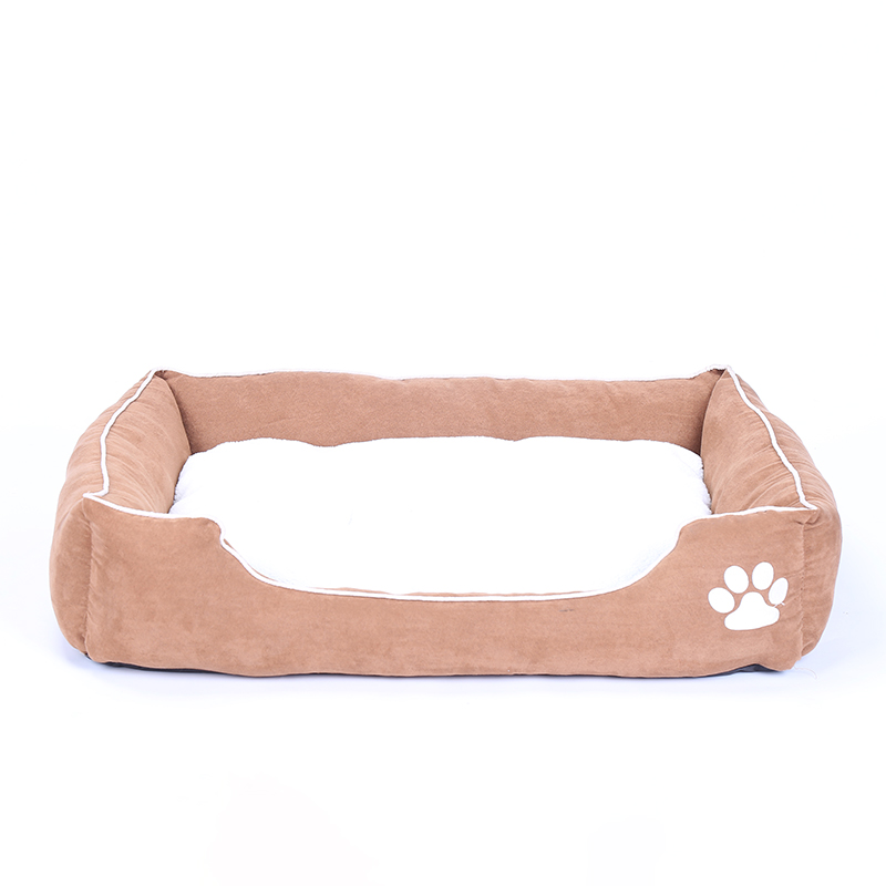 Eco-Freindly Puppy Small Cat Kitten Polka Dog Bed House Cushion for Sale