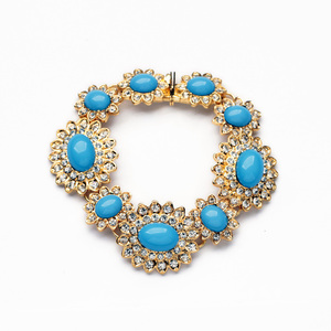 Sweet Resin Alloy Trendy 2016 Gold Bangles Latest Designs
