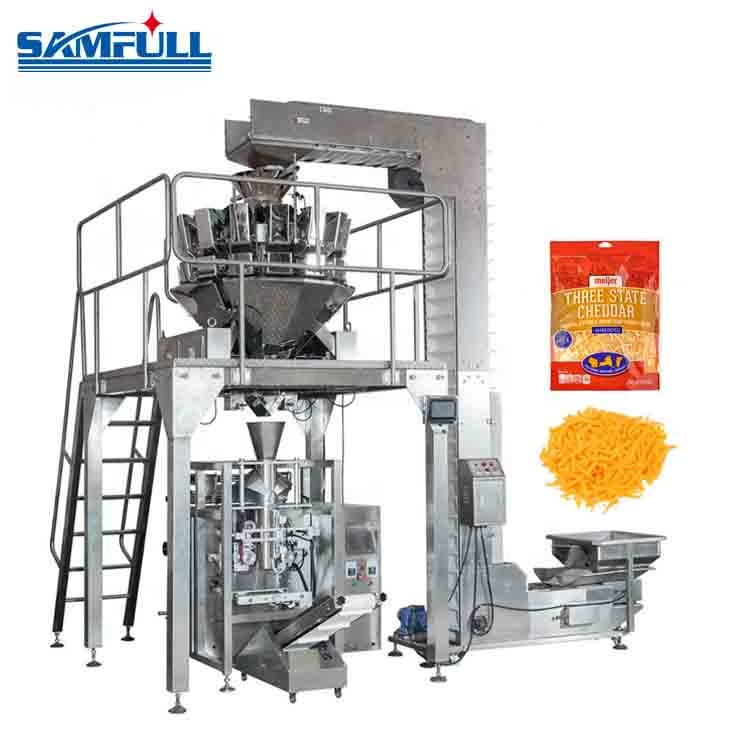 Factory price 10 head weigher 400g 500g sliced cheese packing machine
