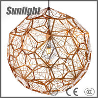 modern gold and silver fireworks metal cage lamp Loft retro ball brass Chandeliers industrial pendant lamp/light/linghting
