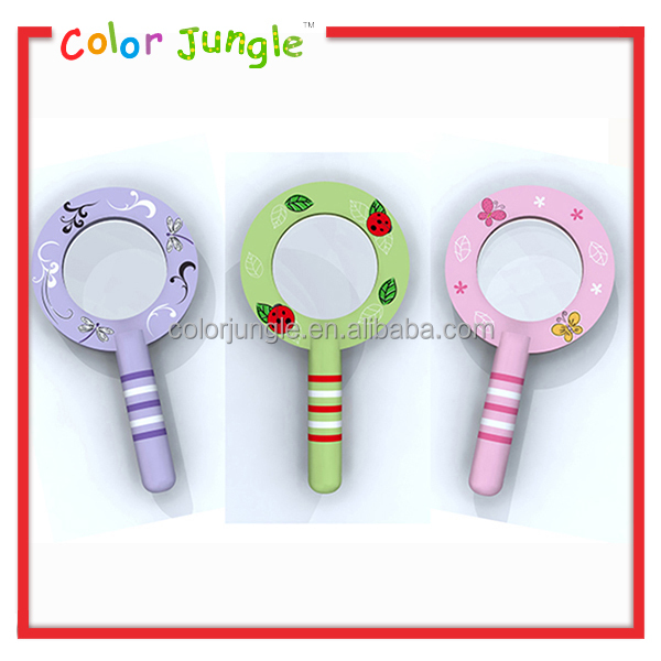 Factory directly wholesale flat magnifying glass x10, hot sale magnifying mirror glass