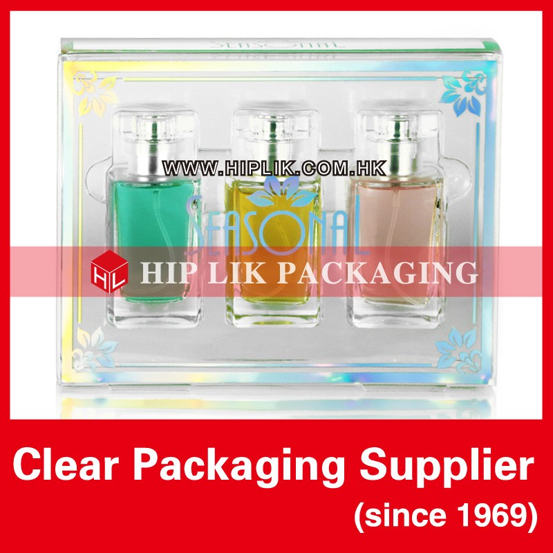 Unique Soft Crease Clear Cosmetic Packing Box