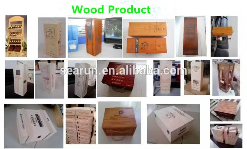 China factory custom all size facial rectangle square wood tissue box