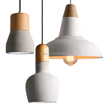 Loft Indoor Cement Lamps Modern Retro Concrete Pendant Light