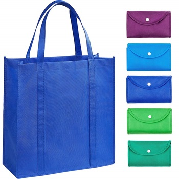 Reusable Grocery Bags for Shopping Foldable Into Pouch Durable Custom bags Eco Friendly Shopping Bag Promotional Bag