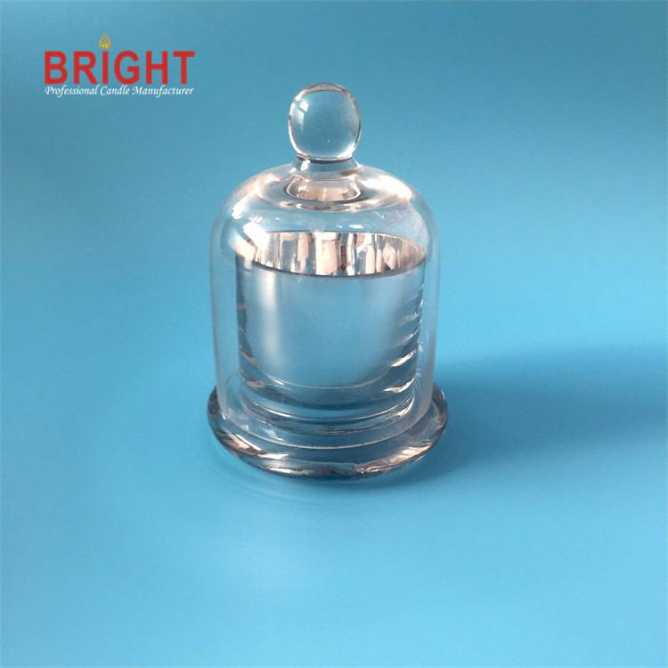 Dome handmade high quality unique craft glass holder jar candles